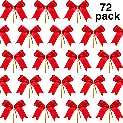 Sumind 72 Piezas Lazo Navidad Lazo Cinta Rojo Lazo