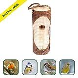 Gardigo Vogelfuttersäule Futterstation für Vogelfutter aus Holz natürlicher Futterspender