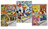 "3x DISNEY Malblock & Sticker Set Din A 5 mit ""Mickey Mouse & Friends"" / ""Winnie the Pooh"" / ""Diverse Disney Figuren"" - Malbuch mit Aufkleber"
