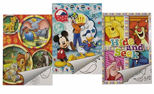 "Sticker Set Din A 5 mit ""Mickey Mouse & Friends"" / ""Winnie the Pooh"" / ""Diverse Disney Figuren"" - Malbuch mit Aufkleber (Daisey Duck)"