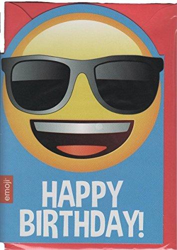Emoticon / Emote / Emoji Happy Shades / Sun Glasses / Cool Birthday Card by Emoji
