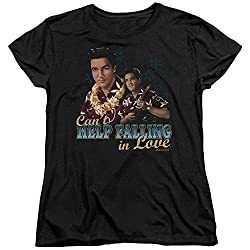 Elvis Presley Can't Help Falling Womens Short Sleeve Shirt from Trevco