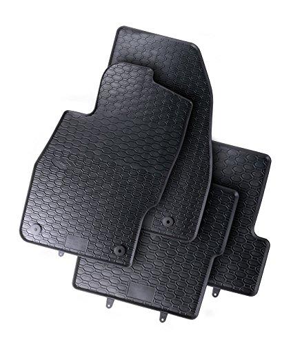 AME Auto-Gummimatten in schwarz und Wabendesign, Geruch-vermindert und passgenau mit verbauten Befestigungen 802/4C