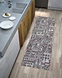 Chenille Country Läufer Teppich Modern Pfannen, hell und vielseitig, rutschfest mehrfarbig geeignet auch für die Kamme