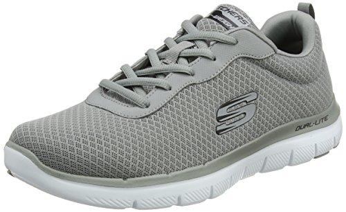 Skechers flex advantage 2.0-dayshow, scarpe da ginnastica uomo, grigio (grey), 43 eu