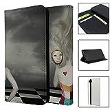 Abstrakte Kunst Herz schwarz checkquered Full Flip Case Schutzhülle für für Apple iPhone 8–S595