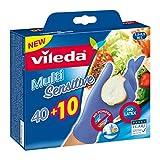 Vileda Multi Sensitive Guanti Usa e Getta Utilizzabili per Preparazione di Alimenti, Taglia Media/Grande, 40+10 Pezzi