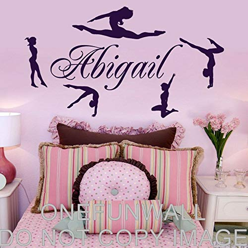 Personalisierte Name & Turners Vinyl Wall Decal Gymnastik Dance Decor