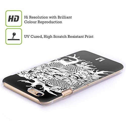 Head Case Designs Doitsu Carpe Koi Nere E Bianche Cover Retro Rigida per Apple iPhone 6 Plus / 6s Plus Utsuri