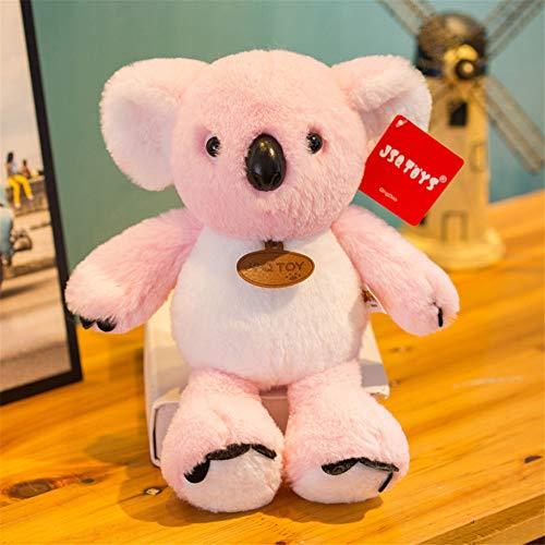 zbinbin Bambola di Peluche Q Versione Koala Doll Soft Sleep Cuscino Decorazione della Casa Regalo di Festa Creativo 30X22Cm Rosa
