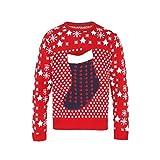 Pullover mit 3D-Nikolausstiefel