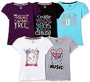Longies Girl's Regular T-Shirt (Pack o