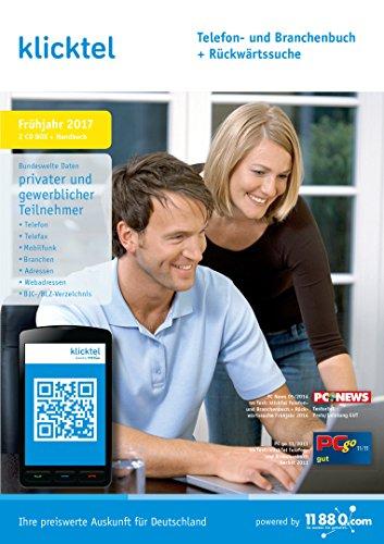 klickTel Telefon- und Branchenbuch inkl. Rückwärtssuche Frühjahr 2017 Normalen Telefon