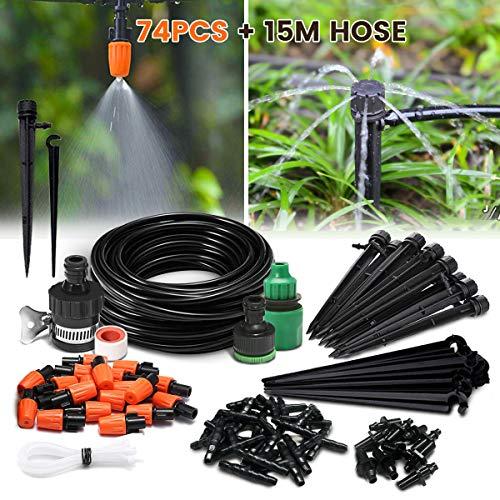 NASUM automatisch Bewässerungssystem DIY Micro Drip Garten Bewässerung Gartenbewässerung verstellbar Pflanzen Wasser Gartenschlauch automatisch Kits (15M Schläuche Set)