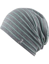 leichte Beanie Sommer Mütze Lagos grau - gestreift - ca. 2-3mm Stoffdicke Damen Herren Mütze unisex, 2013/14, indoor summer beanies