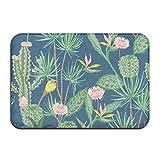 dewdferf Non-Slip Doormat Cactus Blossom Durable Mat rug Bathroom Bedroom Floor Carpet