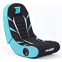 BraZen 18090 Python 2.0 Bluetooth Surround Sound Gaming Chair-Blue