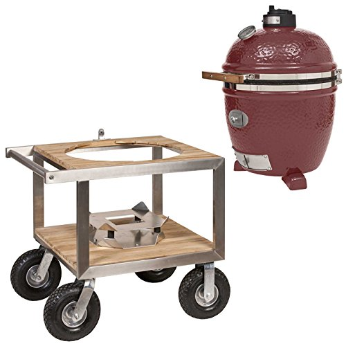 Monolith Classic Red mit Buggy Modell 2017 Keramikgrill Grill