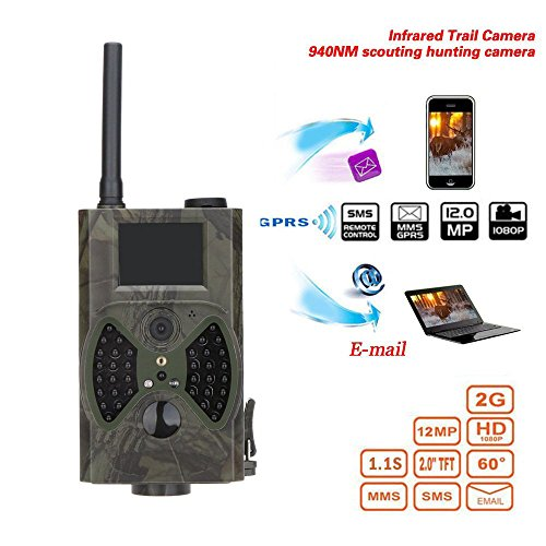 12MP Photo Traps Email MMS/GPRS/SMTP 1080P Night Vision Hunting Traps