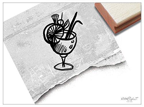 Stempel - Motivstempel Cocktail-Glas - Bildstempel Geschenk für Freundin - Beruf Cocktailbar Karten Servietten Basteln Tisch-Deko - von zAcheR-fineT