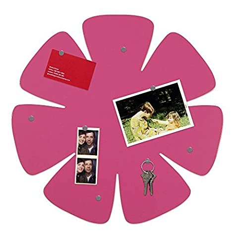 Three By Three Seattle Shape-Up! Flower Magnet Board, Pink (32610) by Three by Three