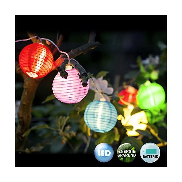 12er Led Lampion Lichterkette Garten Lampions Laterne Stofflaterne