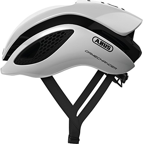 Abus Gamechanger Aero- Helm Fahrradhelm, Weiß (polar white), M (52-58 cm)
