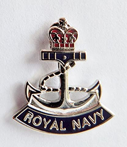 Royal Navy RN Crown and Anchor Small Pin Badge - MOD Approved