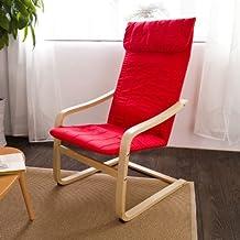 SoBuy® sillón de relada, Silla de relada, mecedora , chaises longues,rojo, FST17-R,ES