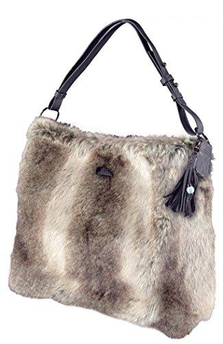 Barts-Sacco in finta pelliccia, colore: grigio, modello junior Barts e da donna Grigio