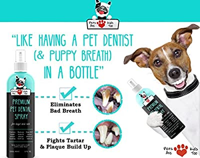 Pets Are Kids Too Pet Dental Spray (Large - 8Oz) Best Way To Eliminate Bad Dog Breath & Bad Cat Breath (1 Bottle) from Pets Are Kids Too