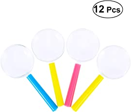 STOBOK 12PCS Children 3 Times Magnifying Glasses Colorful Party Bag Fillers