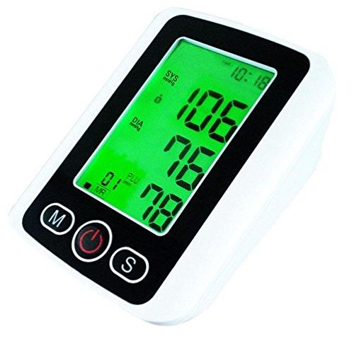 LIU Misuratore Di Pressione Da Braccio Sfigmomanometro Schermo LCD A Display 3 Colori Display Per La Pressione Sanguigna Elettronica
