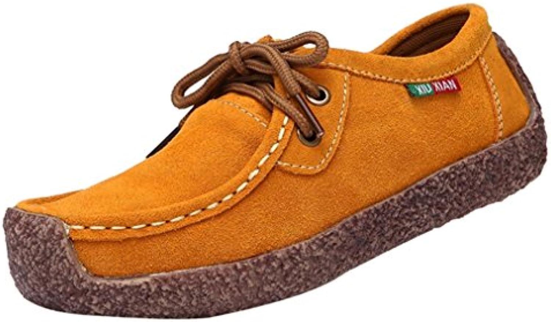 Zapatillas de Náuticos para Mujer Otoño 2018 PAOLIAN Zapatos de Cordones Plano Terciopelo Dama Casual Cómodo Moda...