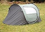 2 Personen Wurfzelt Camping Outdoor Zelt Pop-Up Zelt mit eingenähtem Boden Grün