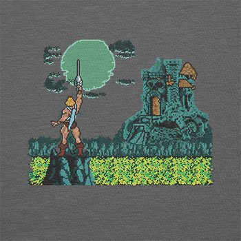 TEXLAB - By the Power - Herren T-Shirt Grau