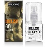 CoolMann Delay Gel for Men 30ml - Potenz- & Verzögerungsmittel bei vorzeitigem Samenerguss zur Verzögerung der Ejakulation fü
