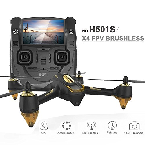 *XT-XINTE Original Hubsan H501S X4 5.8G FPV RC Drone With 1080P HD Camera Quadcopter with GPS Follow Me CF Mode Automatic Return*