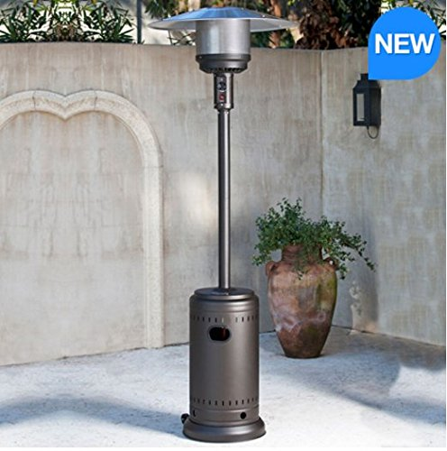 FireSense Gas Mocha 46,000 BTU Commercial Patio Heater
