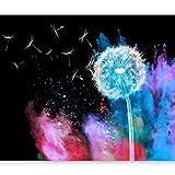 murando - Fototapete 250x175 cm - Vlies Tapete - Moderne Wanddeko - Design Tapete - Wandtapete - Wand Dekoration - Abstrakt Pusteblume bunt b-C-0114-a-d