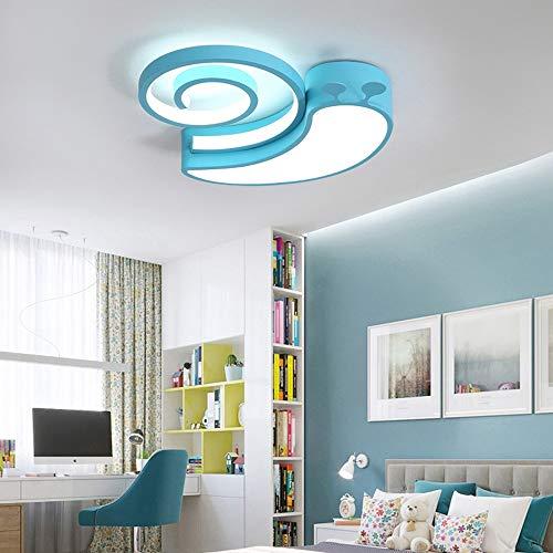 Henley - plafoniera moderna per cameretta dei bambini, 34 w, 6000 k, a led, a forma di lumaca, per ragazzi e ragazze blu