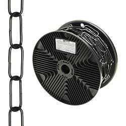 Wolfpack 1040015 Cadena Decorativa Lisa Negra 3,4x43mm Rollo 20m