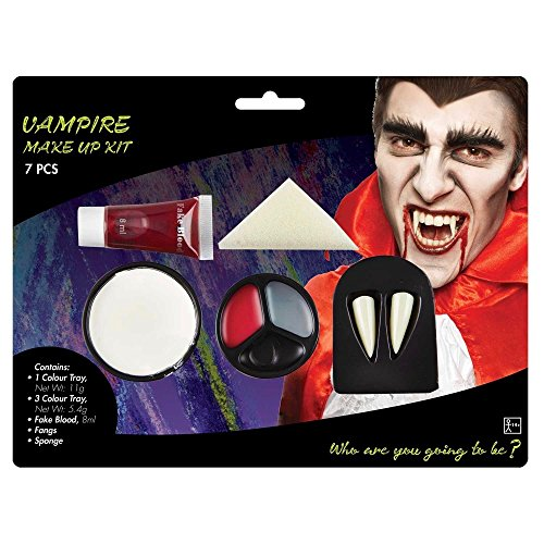 shoperama Diverse Halloween Schminksets Vampirin Zombie Blut Schminke Wunden Narben Vampir-Zähne Kunstblut Make-up, Namen:Vampir