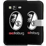 Samsung Galaxy J5 (2015) Flip Tasche Schutz Hülle Walletcase Bookstyle SC Freiburg Fanartikel Fussball