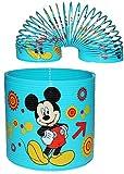 Unbekannt Spirale / Treppenläufer -  Disney Mickey Mouse & Pluto  - Springspirale für Treppen / Motorik Spiel - Zauberspirale Sprungfedern - Springspirale - blau / fü..