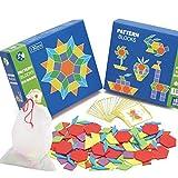 Honsin Blocchi di Legno Iq Modello Puzzle Box Montessori Gioco Bambino Formine Dissektion 130 Blocchi 24 Disegni