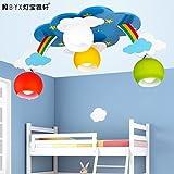 Lfnrr Hochwertige Regenbogen Wolken Decke Lampen Kinderzimmer Jungen Mädchen Prinzessinnen Zimmer Beleuchtung Led Cartoon Leuchten Kreative Deckenleuchten, Weißes Licht