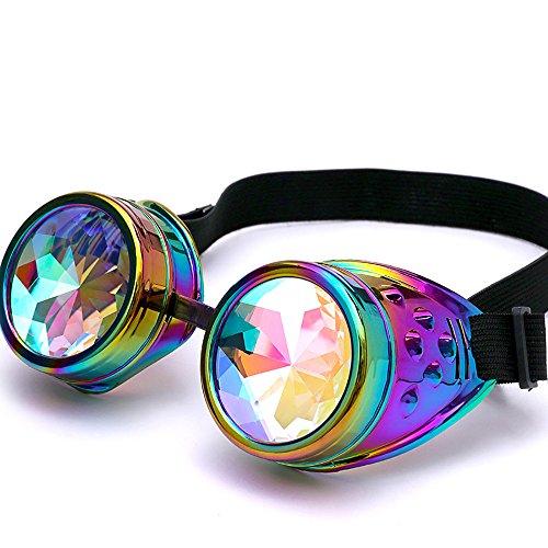 Dorical EDM Sonnenbrille für Unisex/Damen Herren Bunt Brille Rave/Festliche Brille Party gebeugte...
