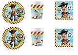 Party Store web by casa dolce casa Toy Story 4 Coordinato ADDOBBI TAVOLA Festa Woody E Buzz Lightyear - Kit n°18 CDC-(24 Piatti,24 Bicchieri,40 TOVAGLIOLI)