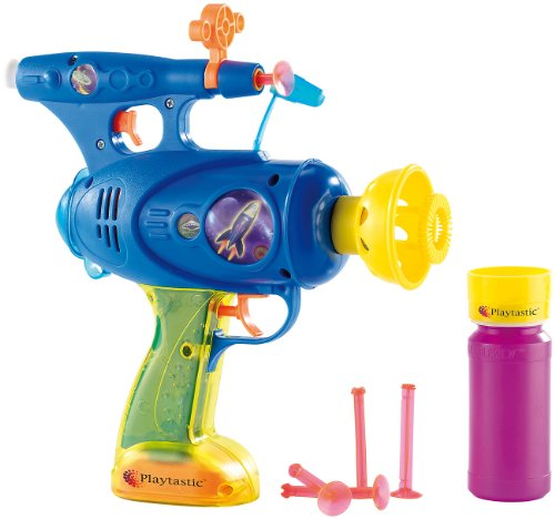ielzeug Pistole: 3in1-Spielzeugpistole: Schießt Seifenblasen, Wasser & Gummipfeile (Disco Party Seifen-Blasen-Pistole) (Kinder Wasser Pistolen)